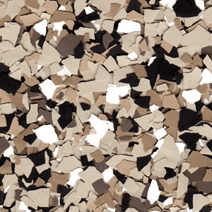 deep brown epoxy flake chips