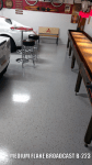 garage floor medium broadcast epoxy color chips