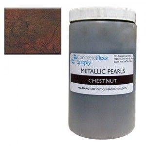 brown metallic concrete pigment