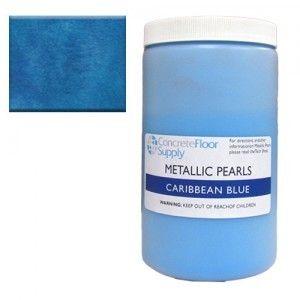 metallic pearl pigment blue