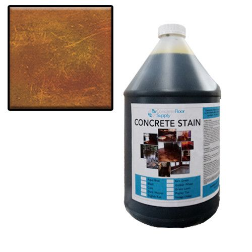 acid wash concrete brown